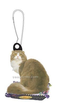 Scottish Fold Cat Zipper Pull