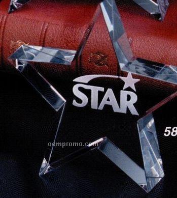 "Star Gallery Crystal Tapered Star Award (4"")"