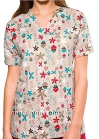 Unisex Two Pocket Top (Butterfly Love Print)