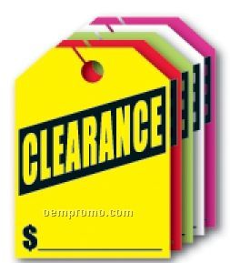"V-t Fluorescent Mirror Hang Tag - Clearance (8 1/2""X11 1/2"")"