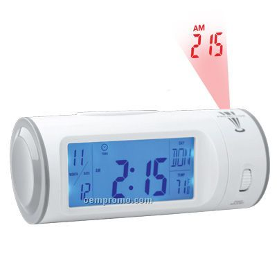Alarm Clock With El Light And Projector