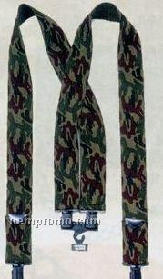 Camouflage Pants Suspenders