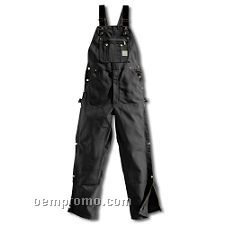 Duck Zip-to-thigh Bib Overalls - Unlined
