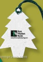Floral Seed Paper Ornament - Tree (Imprinted)