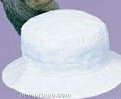 Juvenile White Cotton Bucket Hat