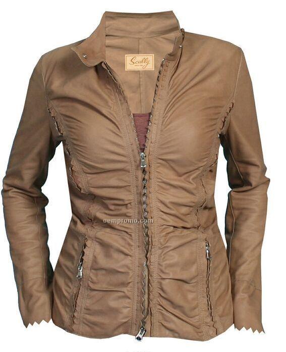 Rain on leather jacket