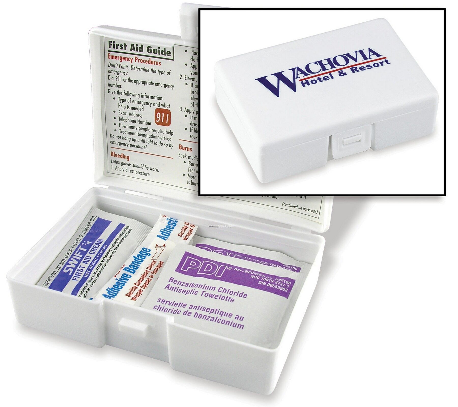 Personal First Aid Kit W/ Bandage & Antiseptic Towelette