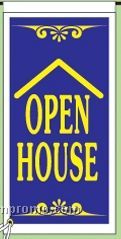 "Stock Ground Banner & Frame (Open House) (14""X30"")"