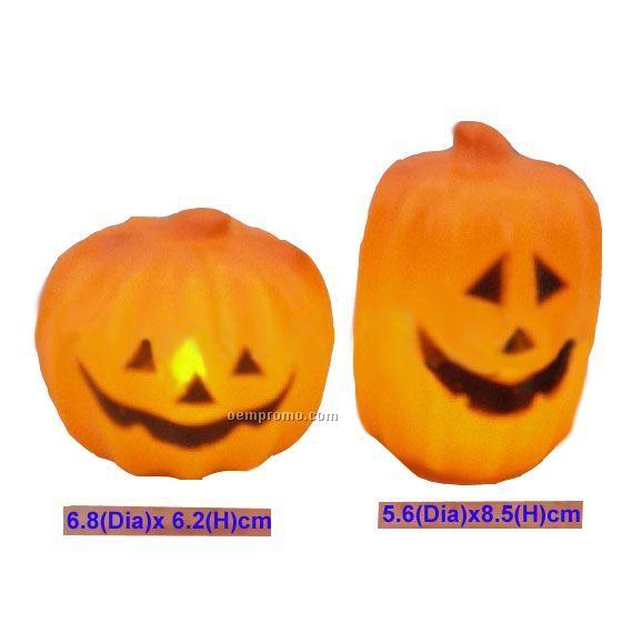 Pumpkin LED Candle