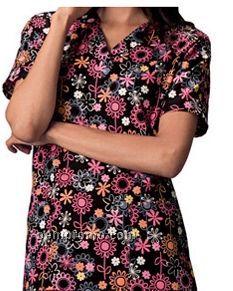 Unisex Two Pocket Top (Flora Topia Print)