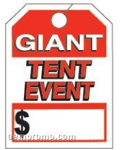 "V-t Special Event Mirror Hang Tag (Giant Tent Event) 8 1/2""X11 1/2"""