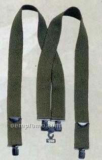 Olive Green Drab Pants Suspenders