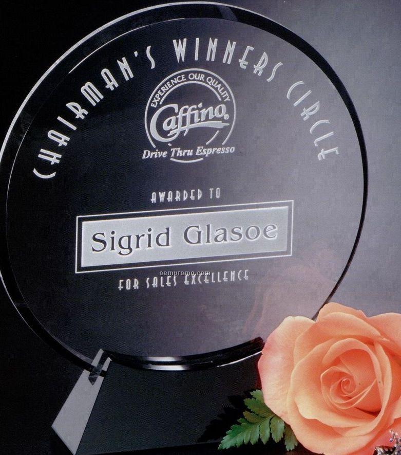 """Sable Gallery Crystal Cavalcade Circle Award (7 1/2"""")"""