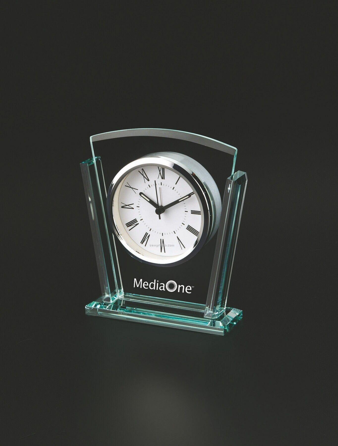 Trapezoid Glass Alarm Clock
