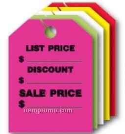 "V-t Fluorescent Mirror Hang Tag - List Price/Sale Price (8 1/2""X11 1/2"")"