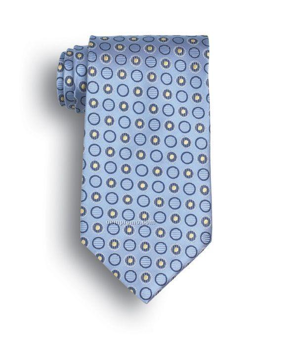 Wolfmark Ellison Bay Silk Tie - Light Blue
