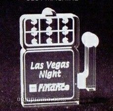 Acrylic Paperweight Up To 16 Square Inches / Slot Machine