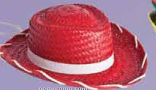 Red Kids Straw Hat