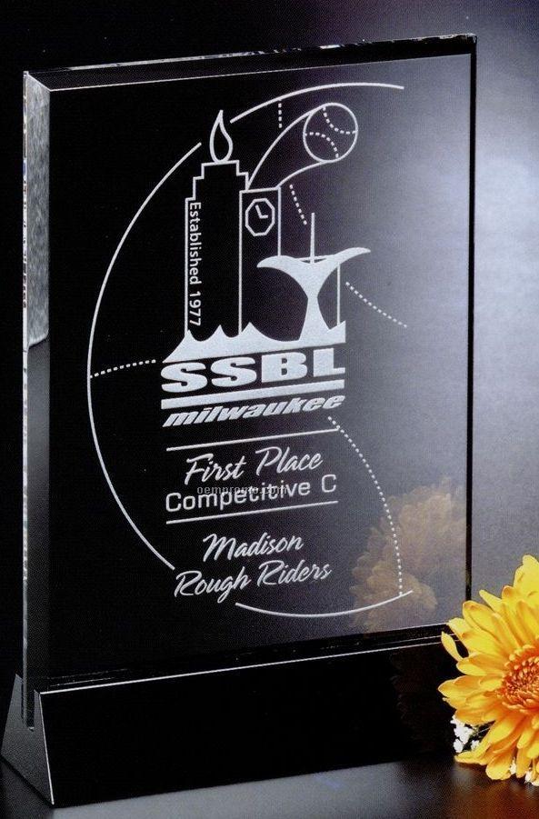"Sable Gallery Crystal Cavalcade Rectangle Award (6 1/2"")"
