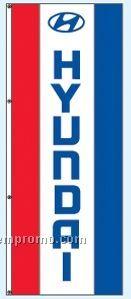 Single Face Dealer Free Flying Drape Flags - Hyundai