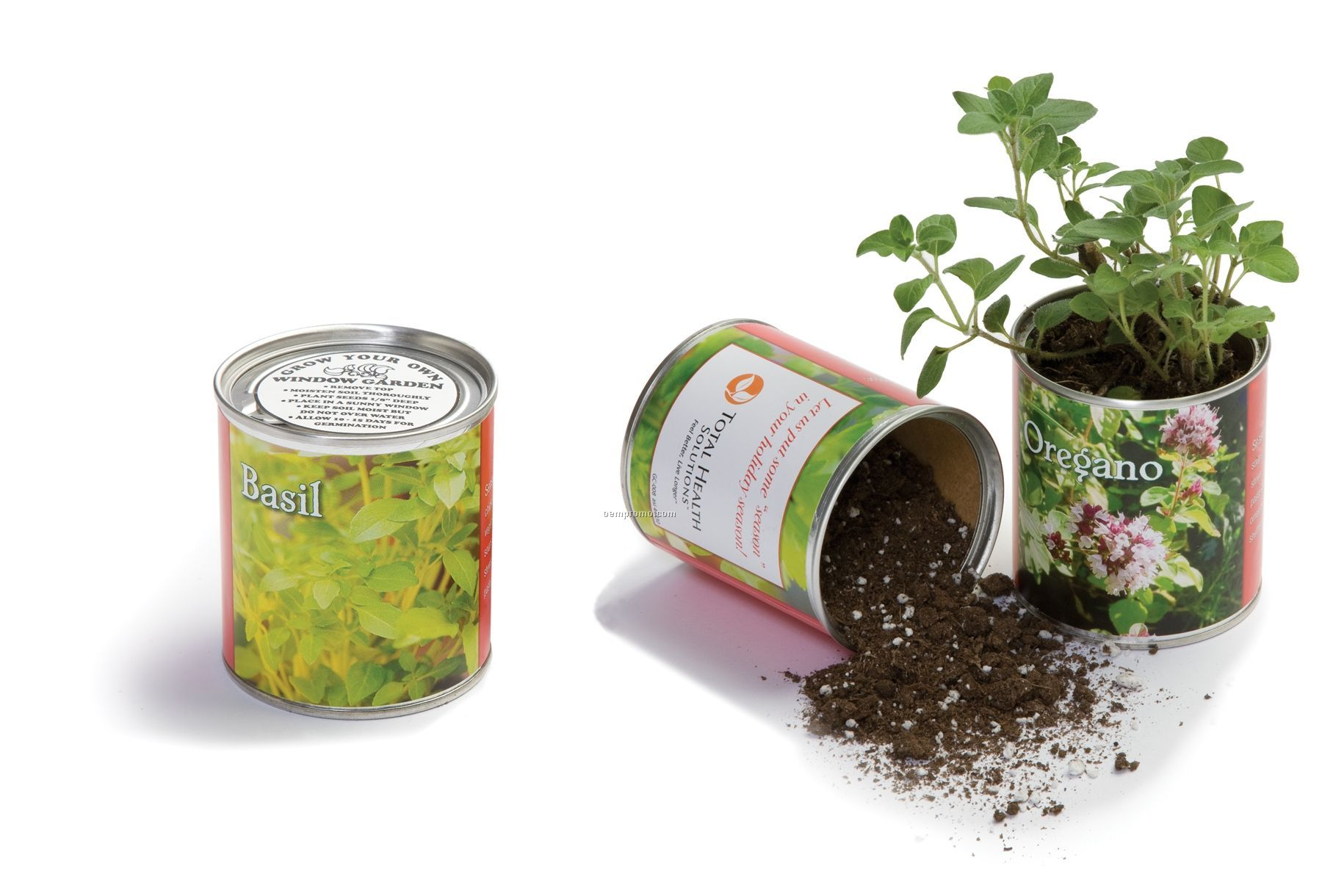 Single Herb Garden Can With Potting Soil & Seeds
