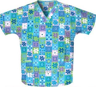Unisex Two Pocket Top (Mix It Up Print)