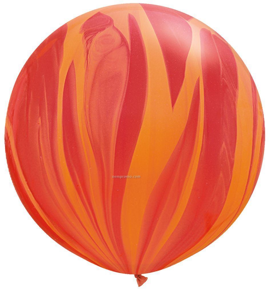 "30"" Superagate Giant Latex Balloon - Rainbow Colors - Blank,China"