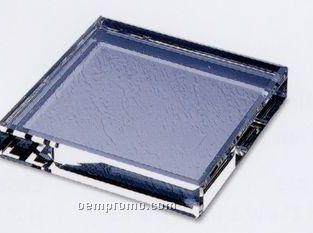 """Optical Crystal Beveled Base (4""""X3/4""""X4"""")"""