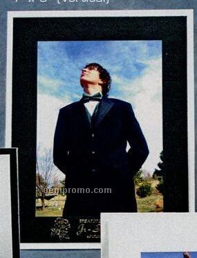 "Black On White Photo Frame (5""X7"")"