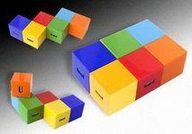 Colorful USB Hub (Cube)