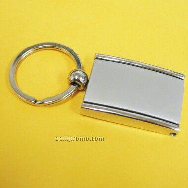 Metal Rectangular Key Ring W/Photo Frame & Mirror (Screened)