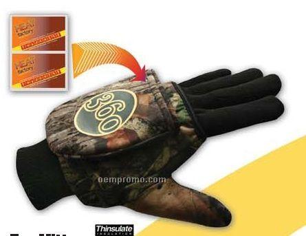 Pop Top Mittens W/ Hand Warmers