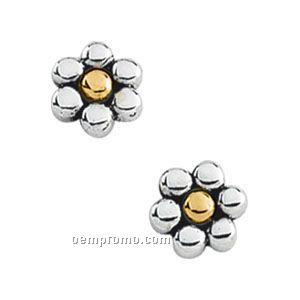 14ktt Metal Fashion Flower Earrings