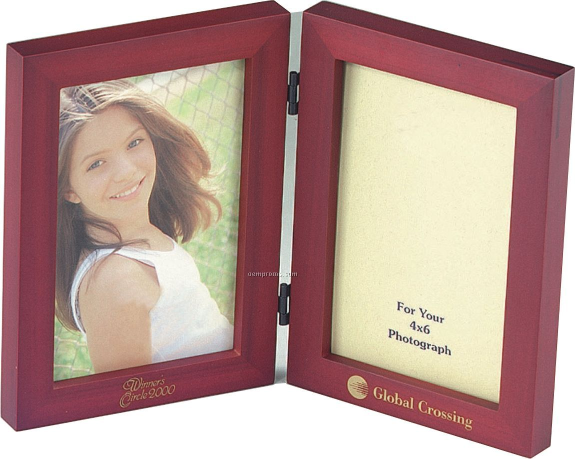 """Simple Wood Picture Frame - Double Folding Picture Frame 5"""" X 7"""""""