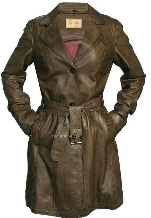 Ladies Hand Finished Lamb Leather Jacket (S-2xl)