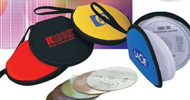 Neoprene CD Holder W/ 12 CD Capacity