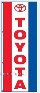 Single Face Dealer Free Flying Drape Flag - Toyota