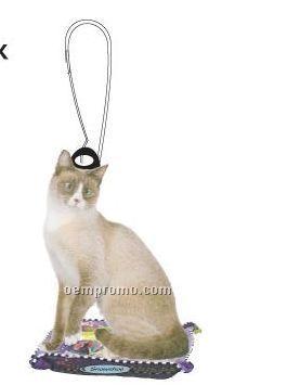 Snowshoe Cat Zipper Pull