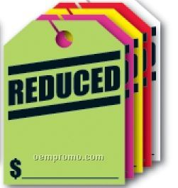 """V-t Fluorescent Mirror Hang Tag - Reduced (8 1/2""""X11 1/2"""")"""
