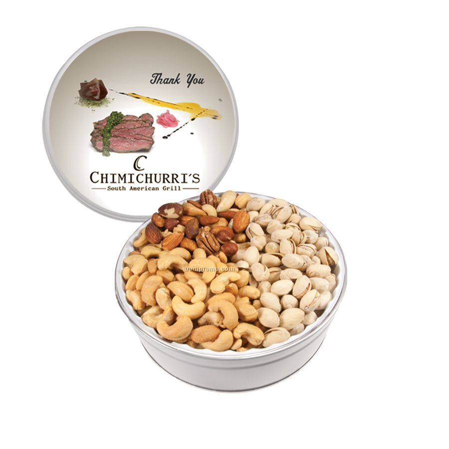 White The Grand Tin With Mixed Nuts, Pistachios And Cashews