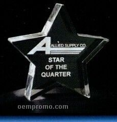 Acrylic Paperweight Up To 16 Square Inches / Star 2