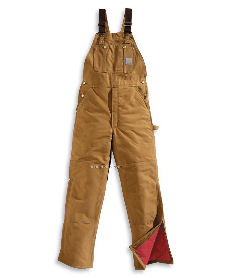 Carhartt Duck Bib Overall / Quilt Lined