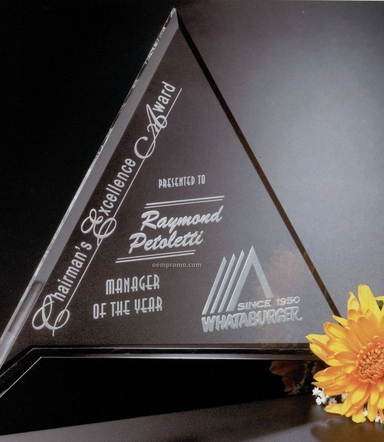 "Sable Gallery Crystal Cavalcade Triangle Award (8"")"