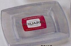 Square Dinner Serving Plate - White /Clear White (120 Pack)