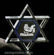 Acrylic Paperweight Up To 16 Square Inches / Star Of David 1