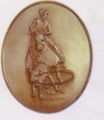 Calf Roper High Relief Medallion Bolo Tie
