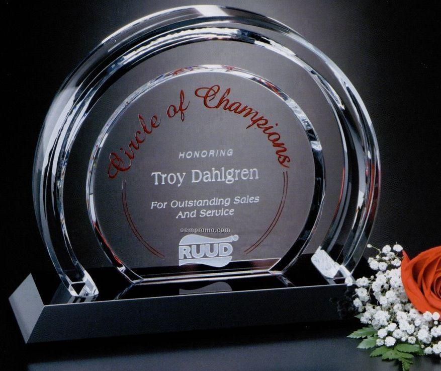 """Crystal Halo Award (6 1/2"""")"""