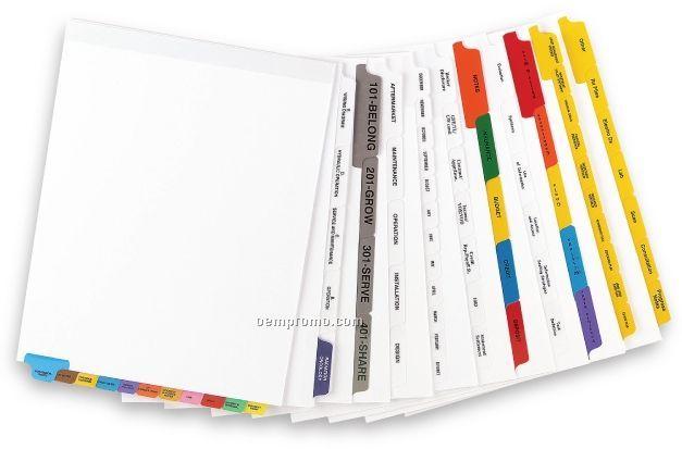 Custom Paper Index Tabs (8 Tabs/Set)