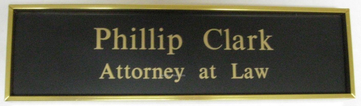 Elegant Gold Wall Name Plate & Holder (8