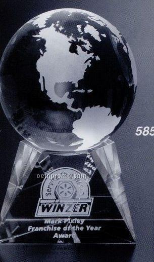 """Global Gallery Crystal Triad Globe Award (3 1/8"""")"""